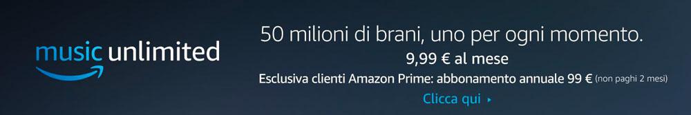 Abbonamento Amazon Music Unlimited