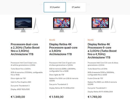 iMac 2019 21.5 pollici
