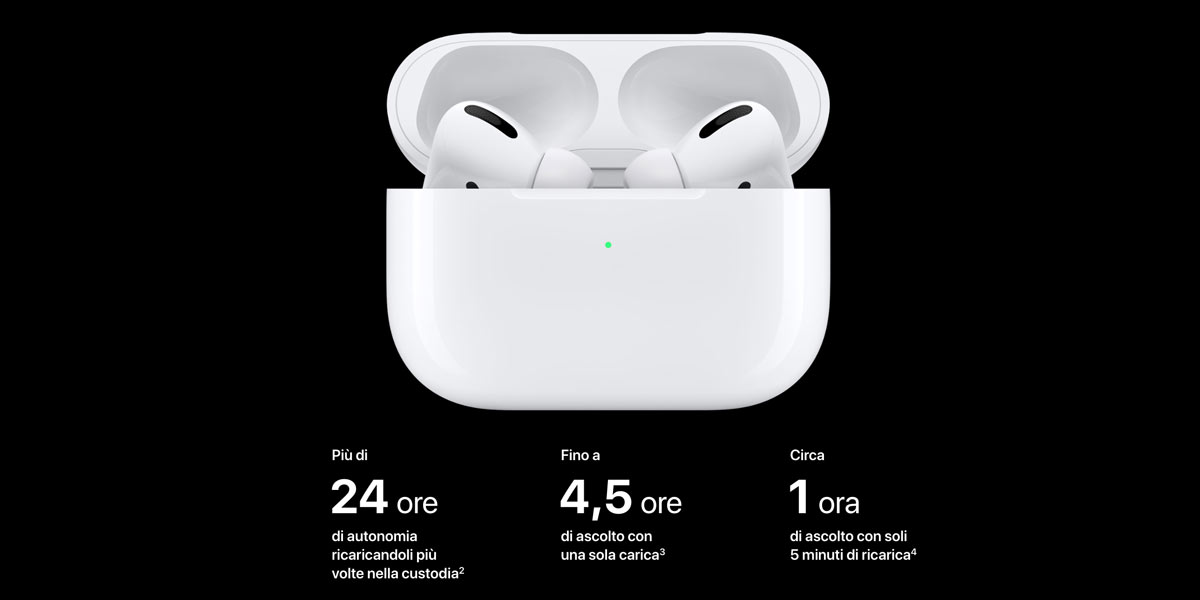 custodia con ricarica wireless airpods pro