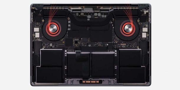 Ventilazione MacBook Pro 16