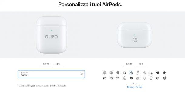 Personalizzare la custodia degli Airpods con le Emoji