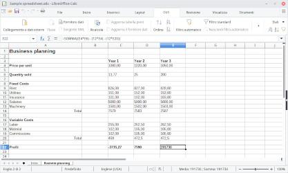 Calc di LibreOffice