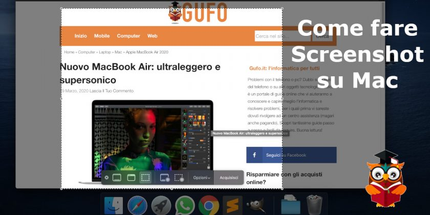 Come fare screenshot su Mac