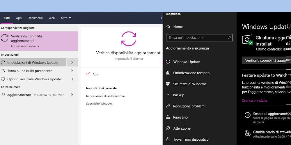 Sospendere aggiornamenti di Windows 10 Home