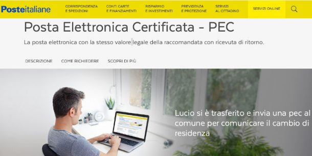 PosteCert la pec di Poste Italiane