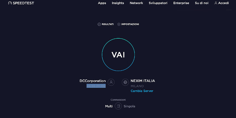 SpeedTest di Ookla