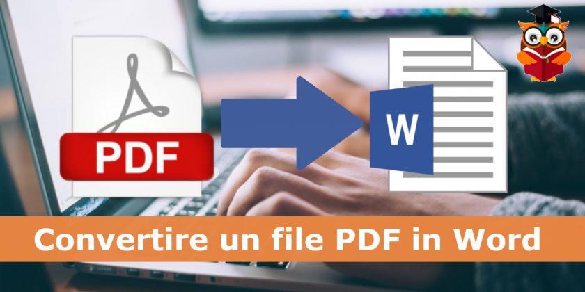 Come convertire un file pdf in word gratis