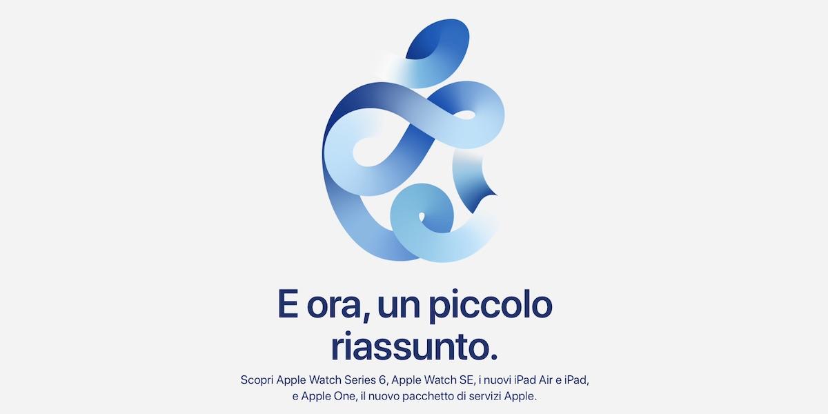 Riassunto Keynote Apple 15 Settembre 2020